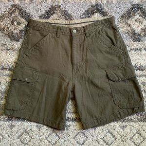 REI Olive Green Cargo Shorts 30